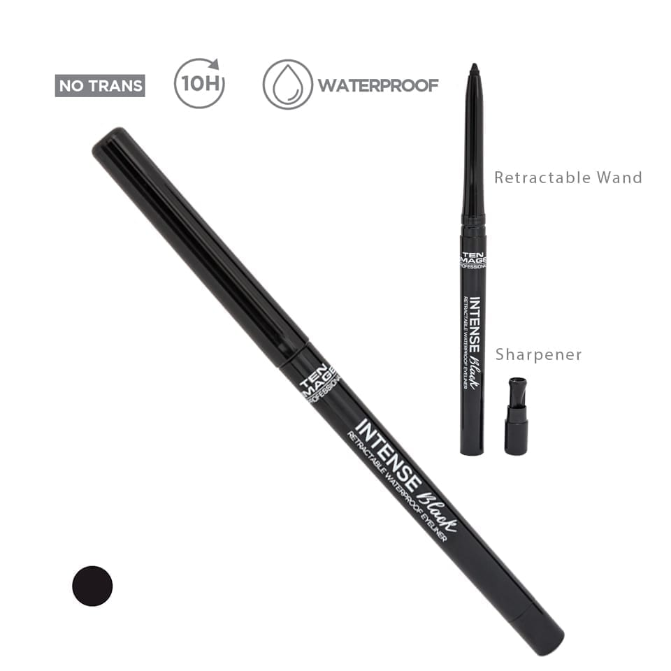 Intense Black Retractable Eyeliner - Ten Image Professional